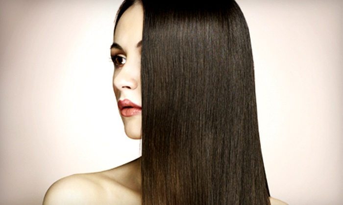 Heads Up and Body Works - Sixteen Acres: $75 for a Keratin Express Smoothing Treatment at Heads Up and Body Works in Somers ($150 Value)