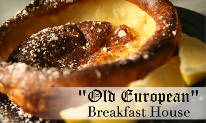 Old European Restaurant - Multiple Locations: $8 for $16 Worth of Breakfast and Lunch Fare and Drinks at Old European Restaurant