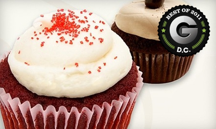 Red Velvet Cupcakery - Multiple Locations: $20 for One Dozen Assorted Cupcakes at Red Velvet Cupcakery ($39.60 Value). Three Locations Available