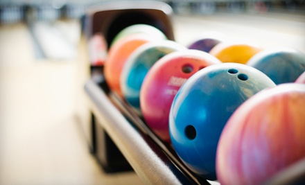 2-Game Bowling Package for Up to 6 People (up to a $58 total value) that Includes 2 Games of Bowling (up to a $36 value), Up to 6 Pairs of Shoes (up to a $12 value) and 1 Full Pizza ($10 value) - Eastgate Lanes in Akron