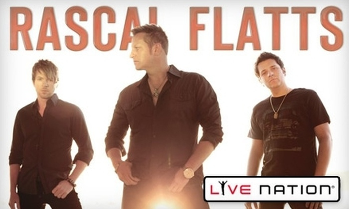Live Nation - Mountain View: Two General-Admission Lawn Tickets from Live Nation to see Rascal Flatts at Shoreline Amphitheatre on Oct. 8 at 7:30 p.m. (Up to $94 Value). Choose from Two Options.