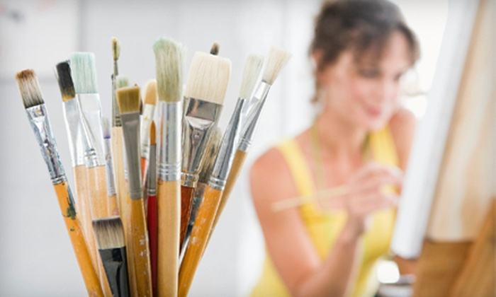 VisArts at Rockville - Rockville: Three-Hour Painting Class with Wine for One or Two at VisArts at Rockville (Up to 54% Off)