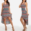 Sleeveless Printed Maxi Dresses in Junior Sizes (Size M)