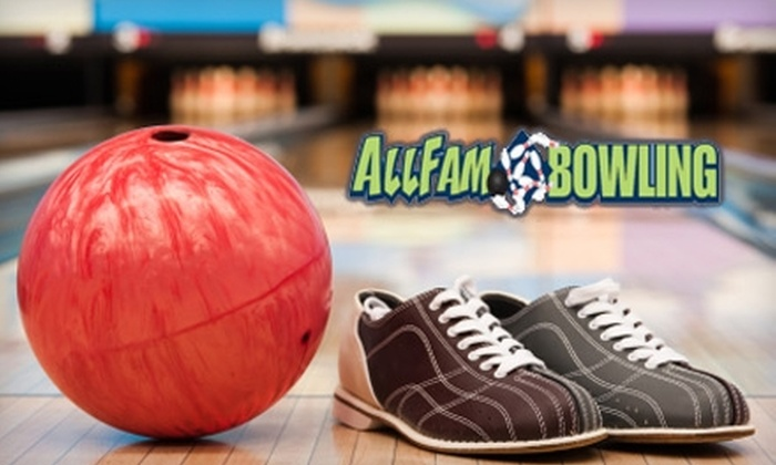 Allfam Bowling - Cabot: $19 for a Two-Hour Group Lane Rental Including Shoes for Up to Six People at Allfam Bowling in Cabot