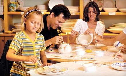 Ceramics-Studio Fees for Up to 3 People (up to a $24 value) - Color Me Mine in Anchorage
