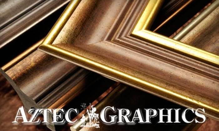 Aztec Graphics - Pacific Beach: $42 for $100 Worth of Framing Services and Products at Aztec Graphics