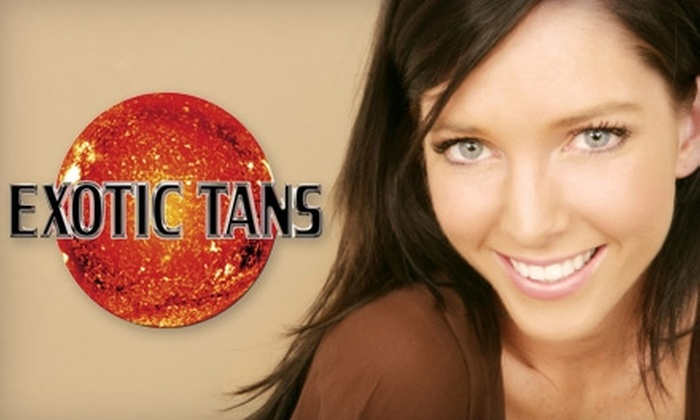 Exotic Tans - Multiple Locations: $50 for Three Spray Tans, One Teeth-Whitening Treatment, and One Month of Tanning at Exotic Tans ($244 Value)