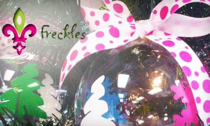 Freckles Personalizations, Gifts & Apparel - Warwick: $25 for $50 of Merchandise at Freckles Personalizations, Gifts & Apparel