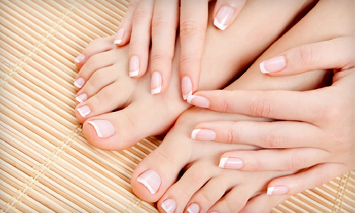 Envy Nails - South Juanita: Mani-Pedi Package or Mani-Pedi Package with Nail Designs at Envy Nails in Kirkland (Up to 53% Off)