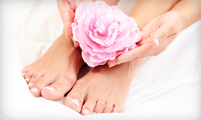 Sara's High-end Hair Studio and Spa - Cooksville: Nail and Facial Treatments from Sara's High-end Hair Studio & Spa in Mississauga. Three Options Available. (Up to $140 Value)