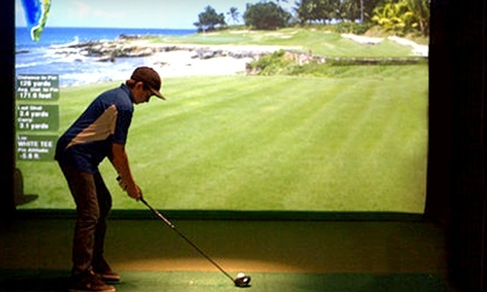 Bunker Indoor Golf & Training - Goodyear: $20 for 18 Holes of Virtual Golf for Four and a $10 Café Credit at Bunker Indoor Golf & Training in Goodyear ($130 Value)