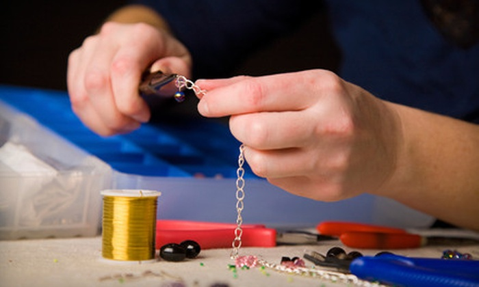 poco creations & beads - Dufresne: Basic Wire Wrap Bead Class Including Materials or a Five-Piece Hobby Toolset from poco creations & beads (Up to 68% Off)