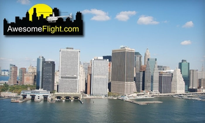 Awesome Flight - Westchester County: $299 for a Scenic Charter Helicopter Flight Over New York City from Awesome Flight ($600 Value)