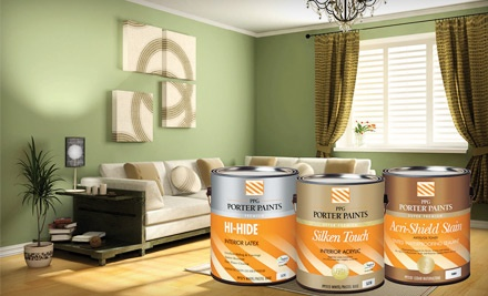 $60 Groupon to PPG Porter Paints - PPG Porter Paints in