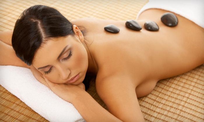 Destination Spa Salon - Henderson: $65 for a Hot-Stone Massage Plus Wine at Destination Island in Henderson ($132 Value)