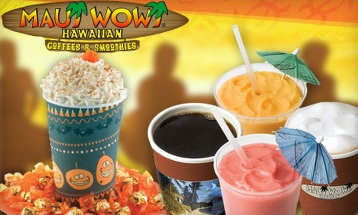 Maui Wowi - Multiple Locations: $5 for $10 Worth of Hawaiian Coffee and Smoothies at Maui Wowi. Choose One of Four Locations.