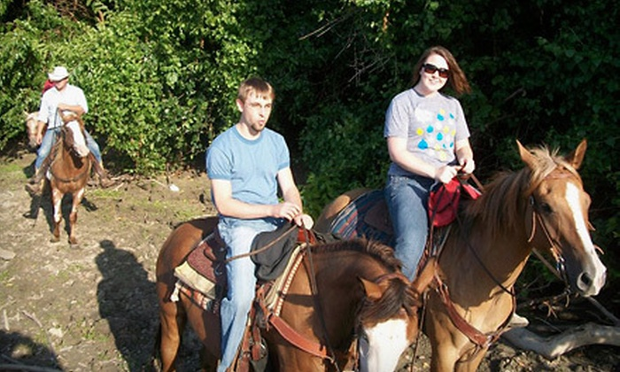 Show Me Trail Ride Outfitter - Rainbow: $85 for a Two-Hour Horseback Ride for Two from Show Me Trail Ride Outfitter at Big River Ranch in Lexington ($170 Value)