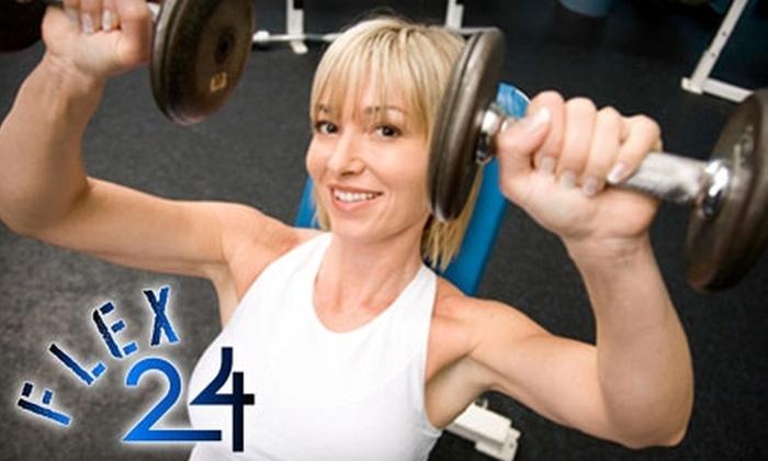 Flex 24 - Odessa: $25 for One-Month Gym Membership ($65 Value) at Flex 24