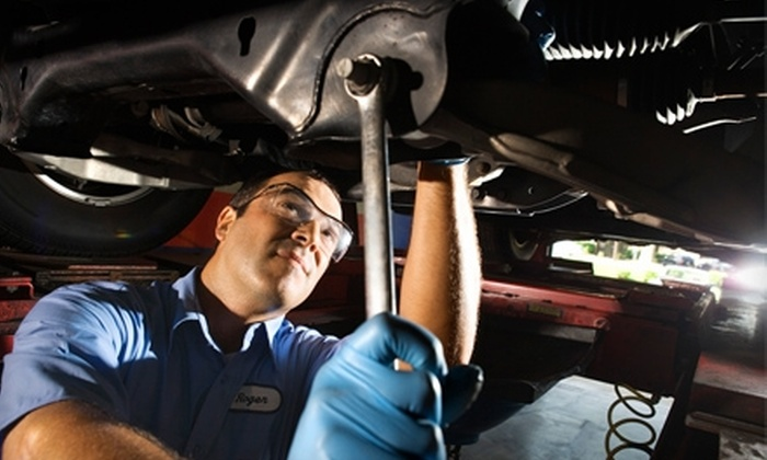 Russell Fischer Car Wash - Garfield: $39 for Oil Change and Nitrogen Tire Inflation for Four Tires at Russell Fischer Car Wash in Huntington Beach ($81.98 Value)