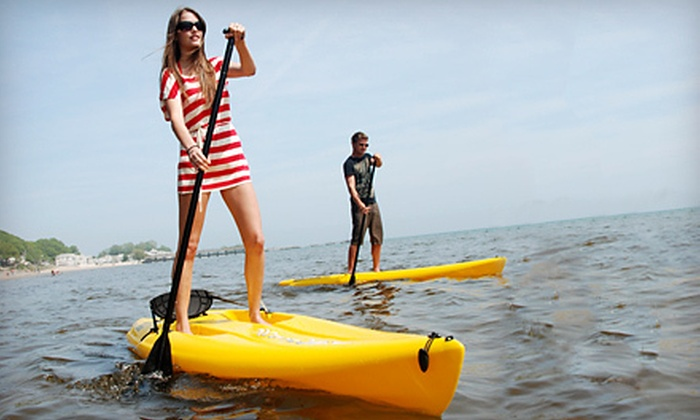 Play Hard Niagara - Port Colbourne: One- or Two-Hour Standup-Paddleboard Rental for Two or Four from Play Hard Niagara in Port Colborne (Up to 59% off)