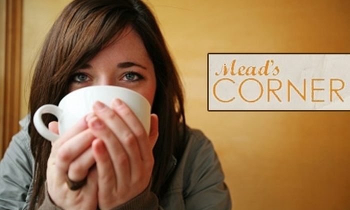 Meads Corner Coffeehouse - Old Town: $5 for $15 Worth of Fair-Trade Barista Beverages and Café Fare at Mead's Corner