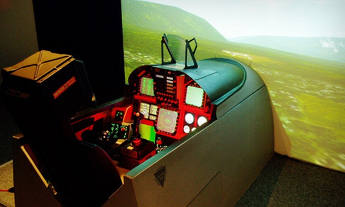 Air Combat Zone - Mississauga: Standard- or Double-Duration Mission in F-18 Fighter Plane Simulators for Two at Air Combat Zone (51% Off)