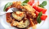 La Piazzetta Cafe - Plainview: Italian Dinner with Salad, Entrees, and Wine for Two or Four at La Piazzetta Cafe in Plainview (Up to 61% Off)