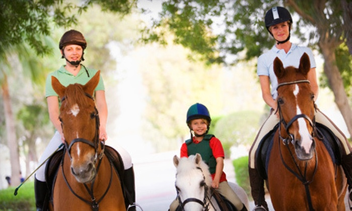 Biamonte Stables LLC - Plumstead: Two One-Hour Horseback-Riding Lessons for One or Two Riders at Biamonte Stables LLC in Pipersville (Up to 64% Off)