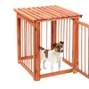 Wooden 3-in-1 Pet Crate, Gate, and Table