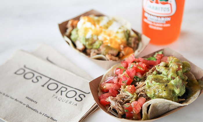 Dos Toros Taqueria: $15 for a $25 Gift Card at Dos Toros Taqueria, Valid Over Multiple Visits