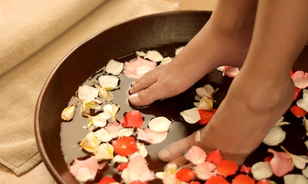 1, 5, or 10 Ionic Footbaths with 30-Minute Reflex Massages at Dharani Healing Arts (Up to 54% Off)