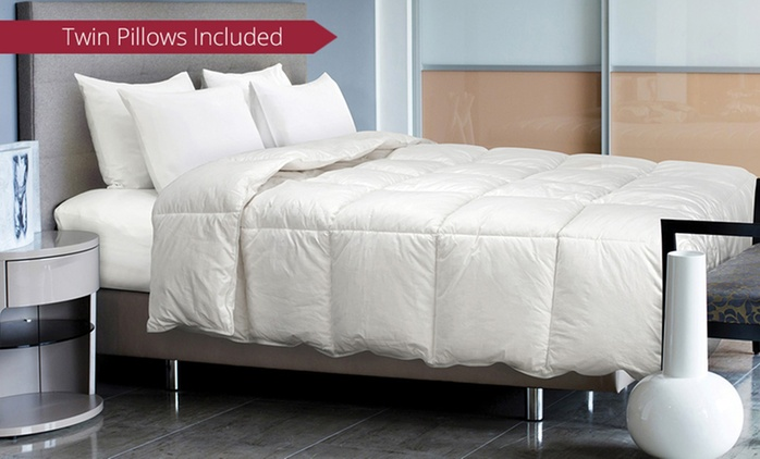 Duck Feather Quilt and Pillows Pack - Single ($89), Double ($99), Queen ($109) or King ($119) (Don't Pay up to $456.99)