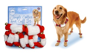 Bow Wow Pet Jingle Bell Collar and Cuff Set