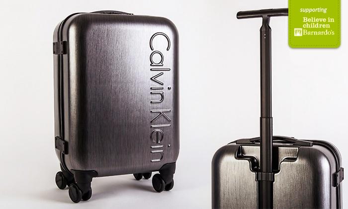 Calvin Klein Cabin Sized Trolley Groupon Goods