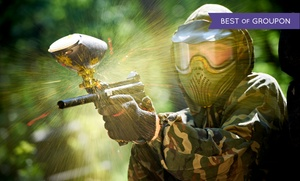 Warzone Paint Games: Paintballing Package with Protective Masks and Markers for 4, 6, 8, or 12 at Warzone Paintgames (Up to 81% Off)