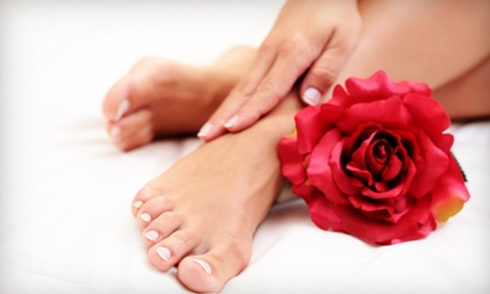 Athena Day Spa - Northeast Hazel Dell - Starcrest: $49 for a Chocolate Manicure and Pedicure with a Shellac Upgrade at Athena Day Spa in Vancouver ($110 Value)
