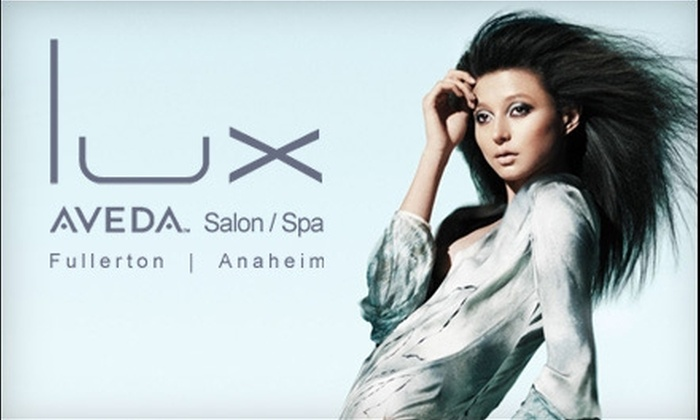 Lux Aveda Salon/Spa - Multiple Locations: $79 for Aveda Hair Spa Treatment and More at Lux Aveda Salon/Spa ($160 Value)