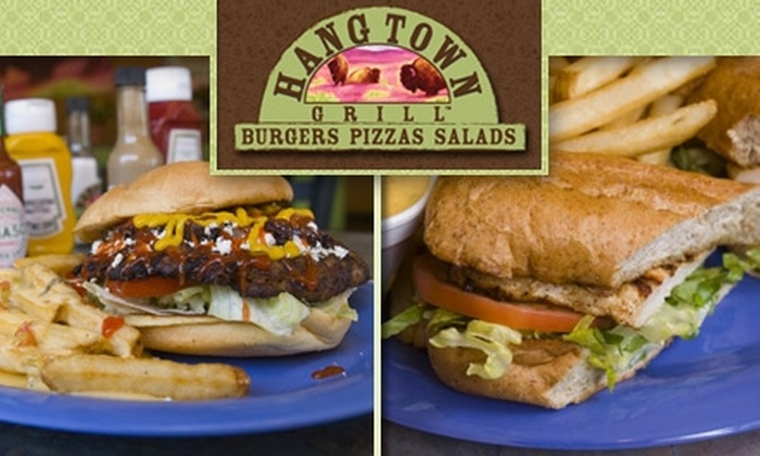 Hang Town Grill - West Lake Hills: $5 for $10 Worth of Pizza, Burgers, and More at Hang Town Grill