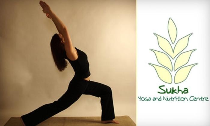 Sukha Yoga and Nutrition Centre - York - Haig: $35 for Five Yoga Classes at Sukha Yoga & Nutrition Centre ($79.10 Value)