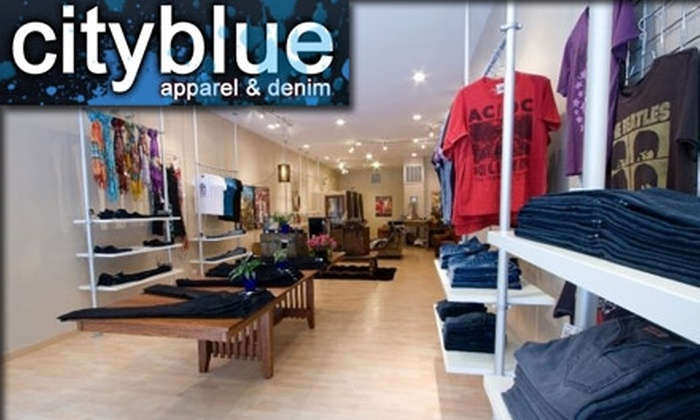 cityblue - Chicago: $45 for $100 Worth of Designer Denim and More at cityblue apparel & denim