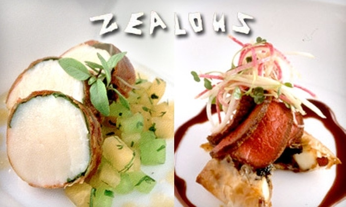 Zealous Restaurant - Near North Side: $35 for $80 Worth of Creative American Cuisine at Zealous