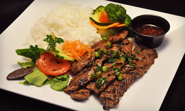 Plum Cafe Asian Grill - North Valley,Northwest Quadrant: $10 for $20 Worth of Asian-Fusion Fare and Drinks at Plum Cafe Asian Grill