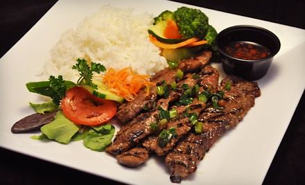 $20 Groupon to Plum Cafe Asian Grill - Plum Cafe Asian Grill in Albuquerque