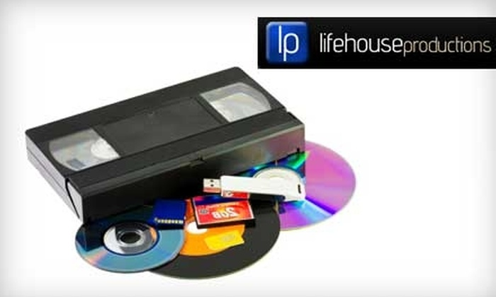 Lifehouse Productions - Bolton: $9 for Up to 120 Minutes of VHS/Camcorder Footage Transferred to a DVD at Lifehouse Productions (a $20 Value)