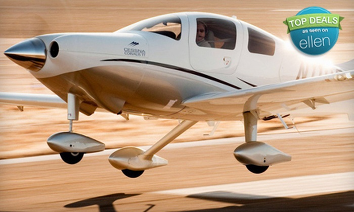 J.A. Flight Services - Sugar Grove: $185 for a Two-Hour Introductory Flight Lesson from J.A. Flight Services in Sugar Grove ($392.50 Value)