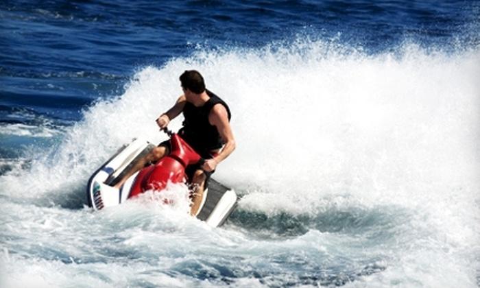 Boundary Waters Resort & Marina - Hiawassee: Two-Hour Jet Ski or Catamaran Rental from Boundary Waters Resort & Marina in Hiawassee. Two Options Available.
