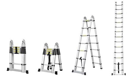 Echelle télescopique avec hauteur modulable, taille au choix, livraison offerte