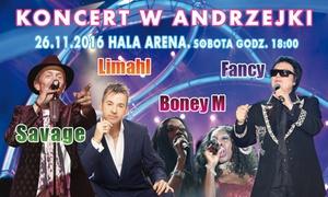 Solaris Music: Andrzejki 2016: bilet na koncerty Savage, Limahl, Fancy i innych za 99 zł w Hali Arena w Poznaniu