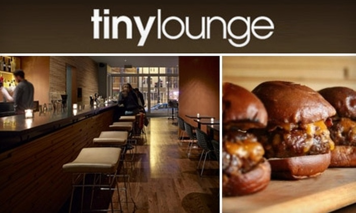 Tiny Lounge - Ravenswood: $20 for $40 Worth of Contemporary American Cuisine and Specialty Cocktails at Tiny Lounge