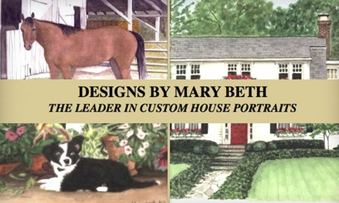 Designs by Mary Beth - Webster Groves: $75 for $150 Worth of House or Pet Portraiture from Designs by Mary Beth